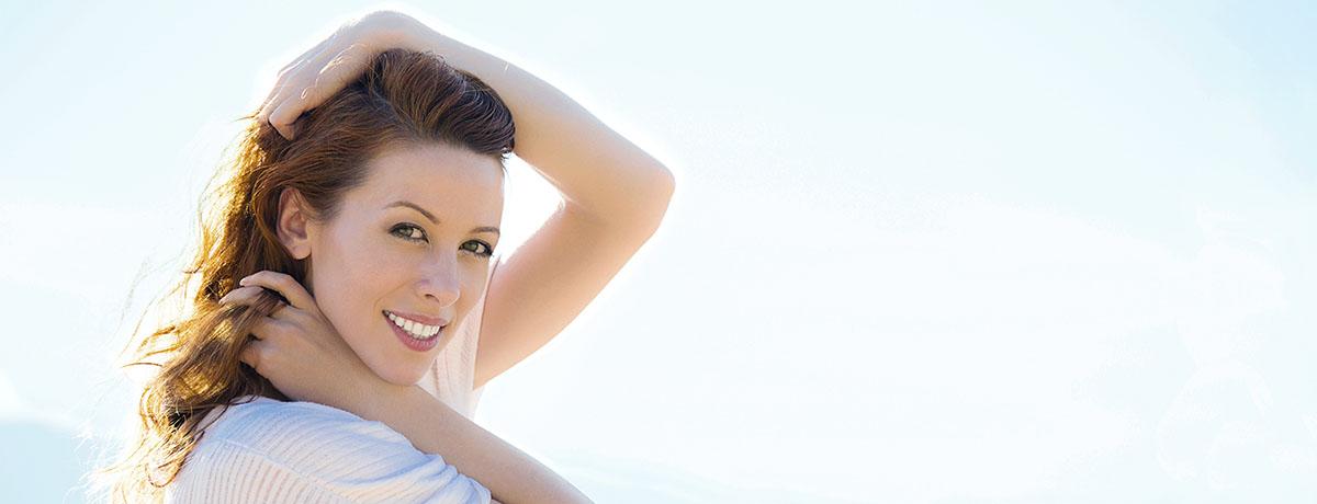 Female headshot of model posing